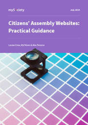 Citizens' Assembly Websites: Practical Guidance (Strony internetowe paneli obywatelskich: praktyczne wskazówki)